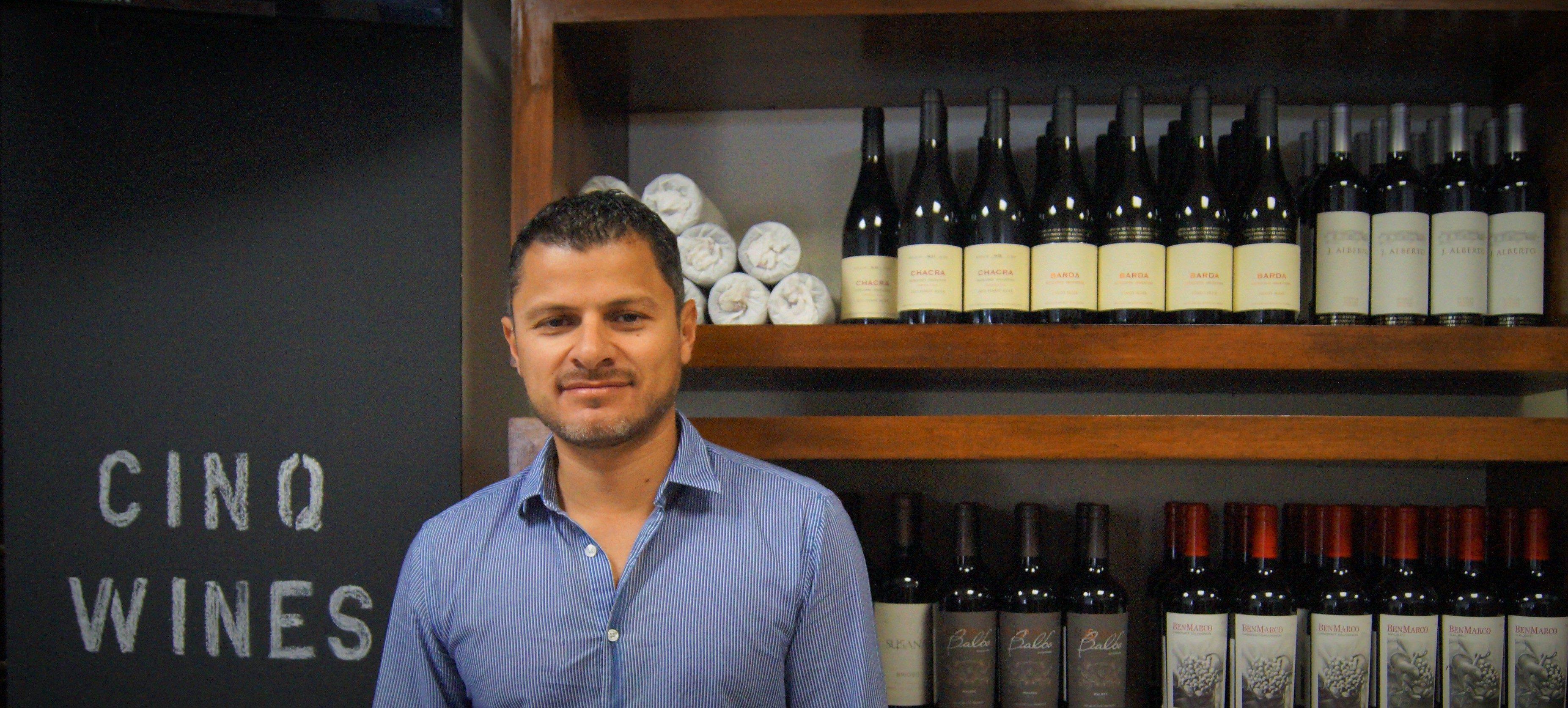 Cinq wines- vinos en Guatemala- fundador Juan Luis Gonzalez